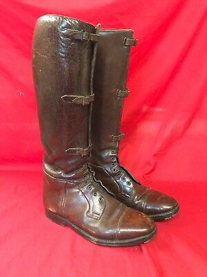 Ww1 British Army Officers Leather  Field Boots, Good Originals, Super Quality