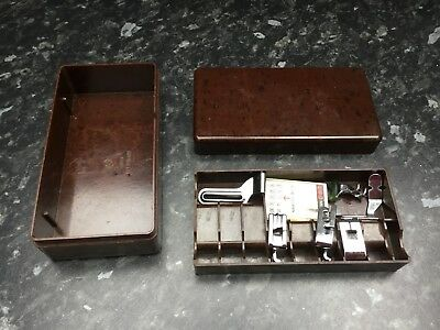 Vintage Sewing Machine Box And Accessories