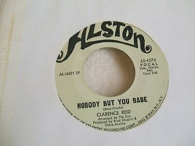 Clarence Reid 'Nobody But You Babe / Send Me Back..' US Alston soul funk 45 exc