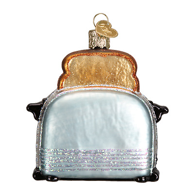 Retro Toaster Old World Christmas Ornament NWT mouth blown glass