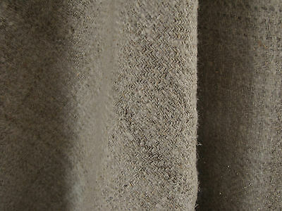 Antique HOMESPUN material Upholstery fabric 4YDS DARK 26.5 WIDE HEAVY
