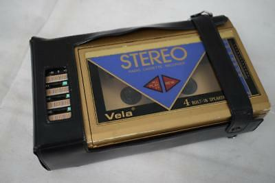 "Retro Vela Gold Stereo Radio Cassette Recorder ""Walkman"" Style Player"