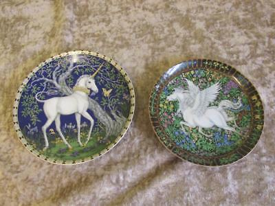 Two Beautiful Hutschenreuther Unicorn & Pegasus Plates