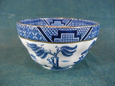 """Booths Real Old Willow A8025 Large 5 1/4"""" Diameter Rice / Cranberry Bowl"""