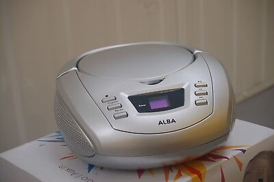 Alba Argos Value Range Portable Boombox Radio FM - Silver (B+)