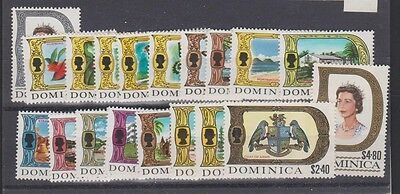 DOMINICA  268-86  Queen Eliz 1969 set mint