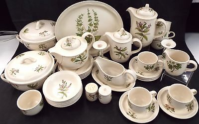 POOLE 37 Pieces Country Lane Tea & Dinner Set Made In England - W10