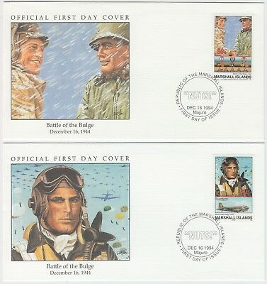 1994 50th ANNIVERSARY WWII:*BATTLE OF THE BULGE* 2 official illustrated covers
