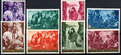 Rwanda 1967 SG#208-215 Paintings MNH Set #D58751