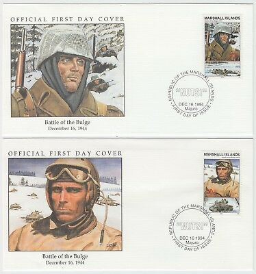 1994 50th ANNIVERSARY WWII:BATTLE OF THE BULGE 2 official illust covers ( 2 )