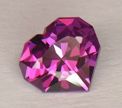 Exquisite Custom Diamond Heart Shape Rare Purple Color Mozambique Garnet