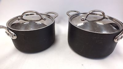 2 x CIRCULON COOKING PANS Silver Circular Steel COOKING UTENSILS  - L25
