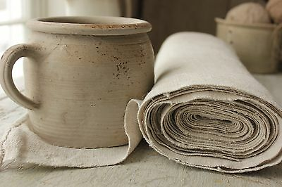 Antique hemp material Upholstery fabric WASHED linen 9.6 yards bolt homespun