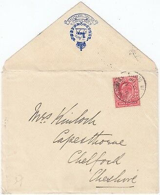1908 THE QUEEN'S 4th BATTALION official cover with WEST DOWN SOUTH CAMP DEVIZES