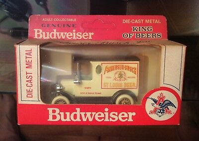 Vintage 1979 Budweiser Beer Metal Antique Delivery Truck New In Box Advertising