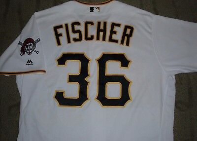 Brad Fischer Pittsburgh Pirates Game Used Worn Jersey
