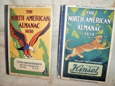 NORTH AMERICAN ALMANAC. 1929 and 1930.