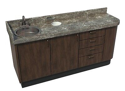 Signature Series Side Dental Cabinet with sink - Real Wood - Custom Built -