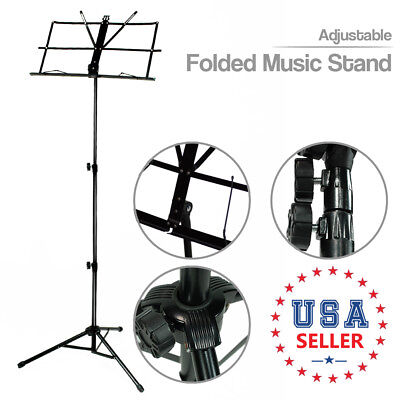 "Black Folding Tripod Sheet Music Holder Stand 20""-46"" Height Adjustable"