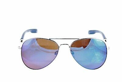 6e7eee7fd7 New Kenneth Cole Reaction Sunglasses KC1272 10X Silver Blue Mirror Aviator  58mm