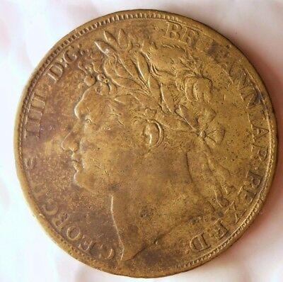 1823 GREAT BRITAIN 1/2 CROWN - JETON - Very Rare Coin - Lot #112