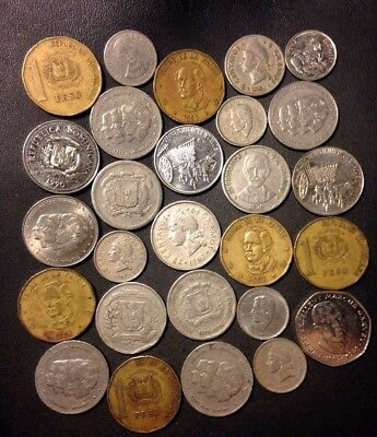 Old Dominican Republic Coin Lot - 1951-PRESENT - 27 Coins - Lot #112