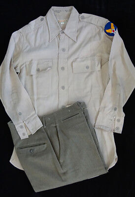 Ww2 Us Army Air Corps Officers Shirt & Trousers -Named