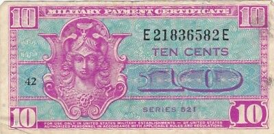 1954 USA Series 521 10 Cents Military Payment Certificate Note, Pick M30