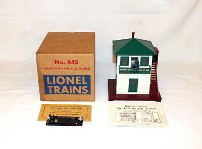 Postwar Lionel #445 Operating Switch Tower~w/Nice OB & Instructions