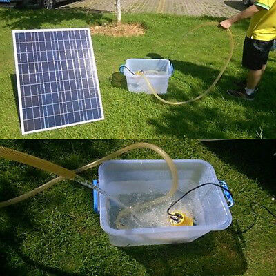 ECO Solar Powered 12V Water Pump Kit W/100W Solar Panel for Watering Washing