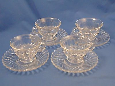 4 - FOSTORIA COLONY - Footed Cup and Saucer -- +Available+
