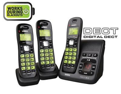 Uniden Dect 1635+2 Digital Cordless Phone System- Works During Blackouts*