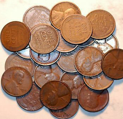 25 Diff. Lincoln Cents from 1909 to 1939-S in GOOD-FINE+! 09,12,16D,25S,32,33
