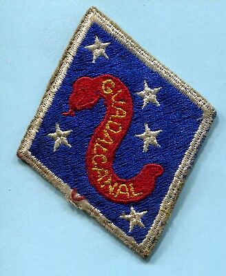 Wwii Shoulder Patch 2Nd Marine Division * Guadalcanal