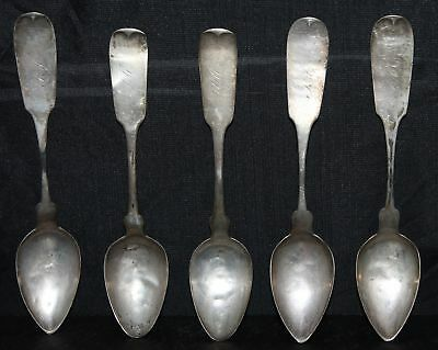 Lot of 5 N. Matson American Coin Silver Spoons
