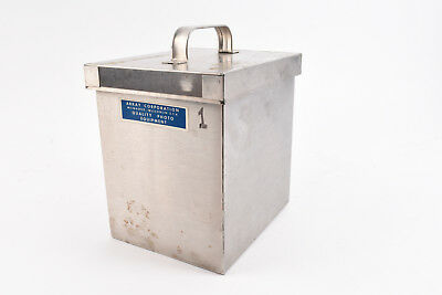 Vintage Arkay Stainless Steel 4x5 Film Developing Tank with Lid V07