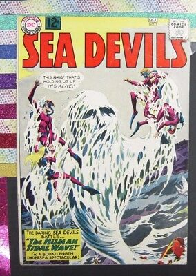 Sea Devils #7 Good - Beautiful book w/ Popped Staple (1962, DC)