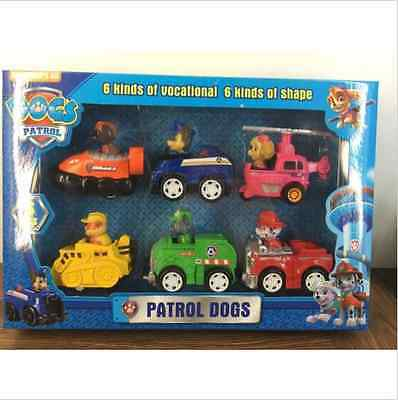 New 6pcs Paw-Patrol Dog Animal Car Toys Puppy Dog TV Cartoon Hot Toys Xmas Gift