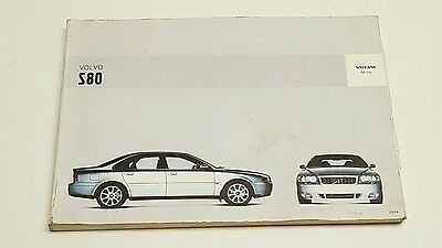 2004 volvo s 80 owners manual with binder u2022 15 00 picclick rh picclick com 1998 Volvo S80 2004 Volvo S80 Interior