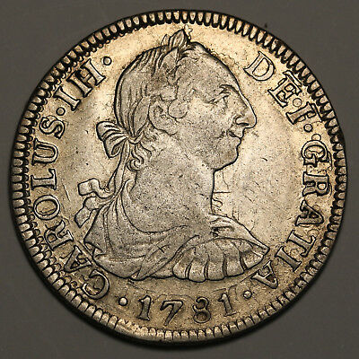 1781 FF Mexico 2 Reales KM #88.2 Overstruck  Coin Rare Silver