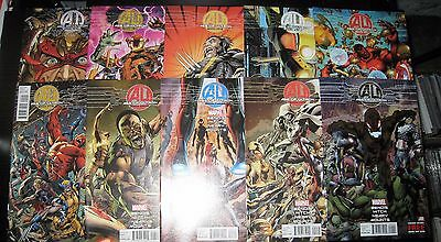 (K623) AGE OF ULTRON comic book (LOT OF 10) # 1- 6, 8- 10 + 10 A1, AVENGERS
