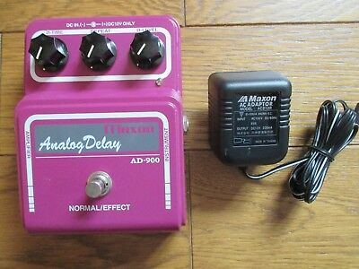 MAXON AD-900 Analog Delay Pedal Made in JAPAN MN3005 2 Chip 1st Ver. w/ Adaptor