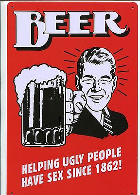Beer    Metal Sign   new Repo Collectable