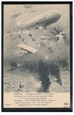 WW1 Germany Zeppelin and aircraft battle Cuxhaven