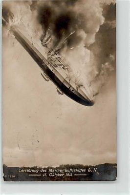 WW1 Germany Zeppelin crashed October 1913