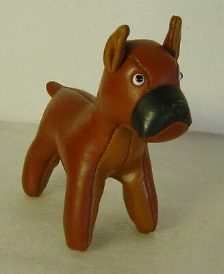 cute vtg 50s/60s Tomi Japan leather Boxer dog