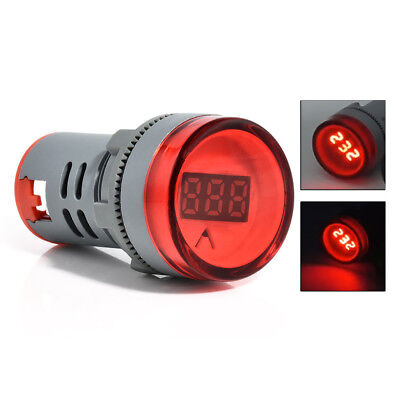 22MM AC60-500V LED Voltmeter Voltage Meter Indicator Pilot Light DIY Red Test