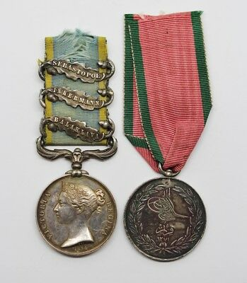 1854 Crimea Medal (3 Clasps) Pair - Pte. S. Tipping, 1st Bn Scots Fus Guards #16