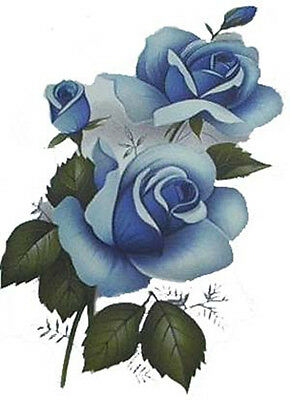 GorGeouS BLuE RoSeS ShaBby WaTerSLiDe DeCALs