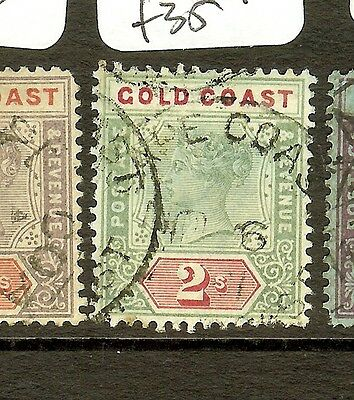 Gold Coast  (B0402) Qv  2/-  Sg32   Vfu